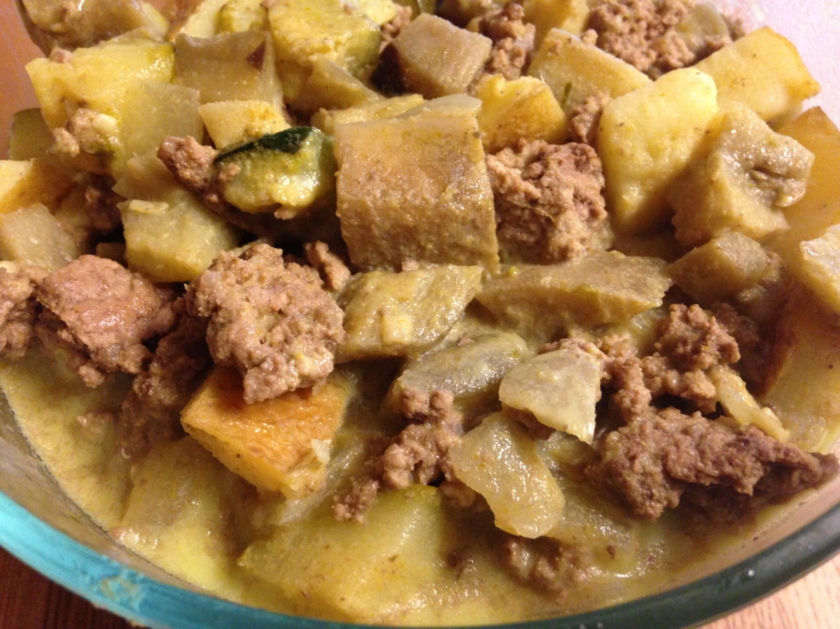 Eggplant and Beef GreenCurry