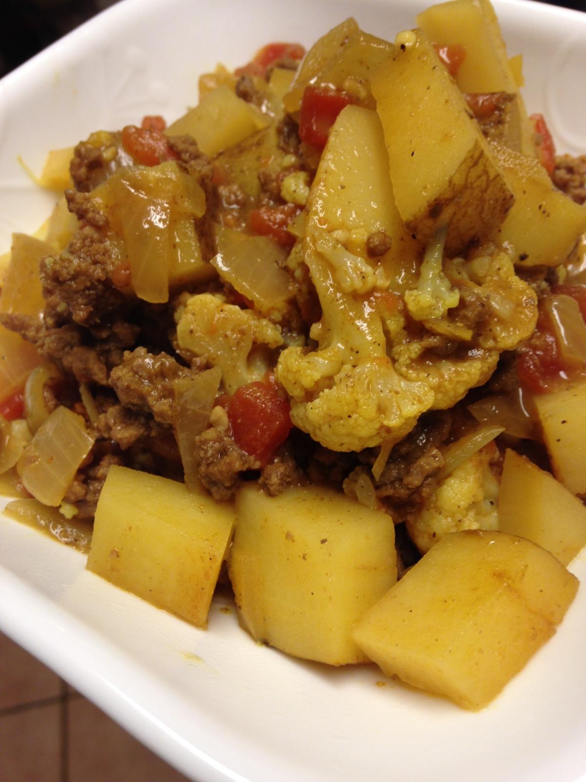 Cauliflower and Potato IndianCurry
