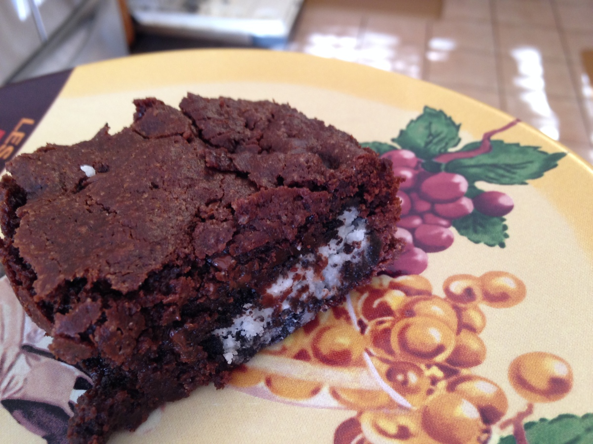 Glutino-Stuffed Brownie