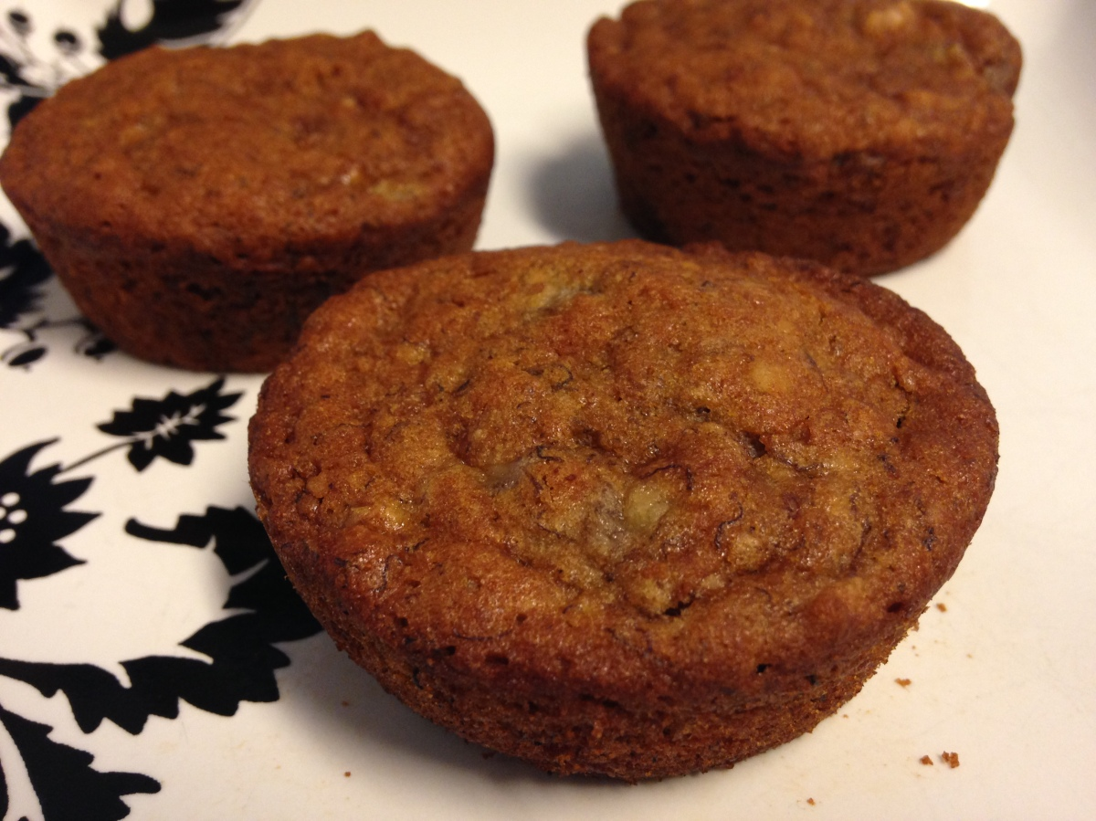 Banana Nut Muffins- Gluten free and vegan