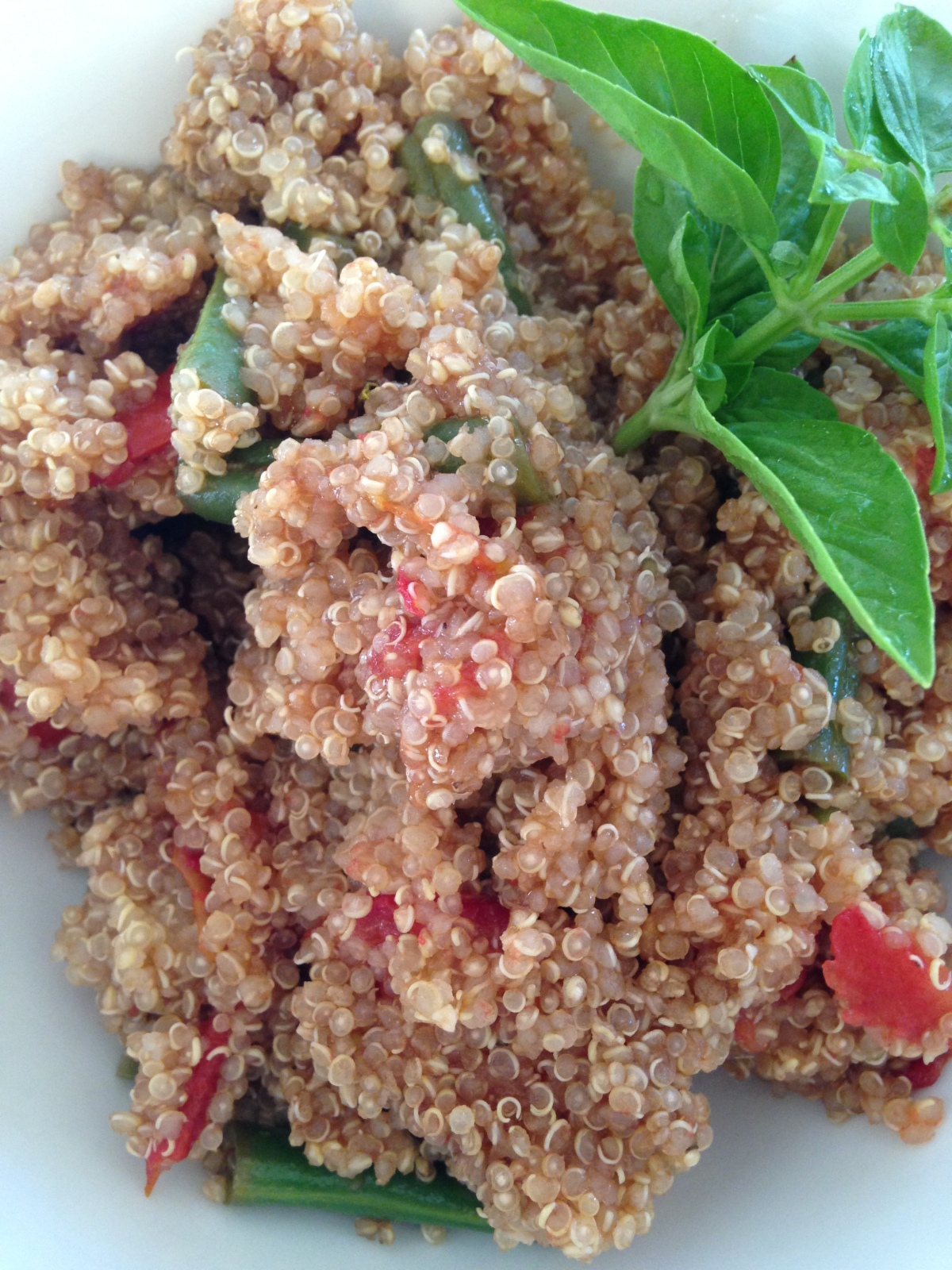 Quinoa with Green Beans and Tomatoes