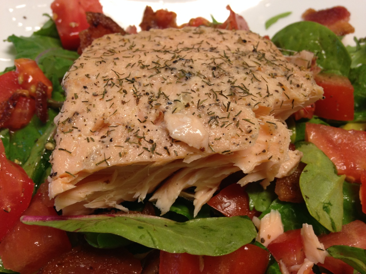 Salmon and Bacon Salad