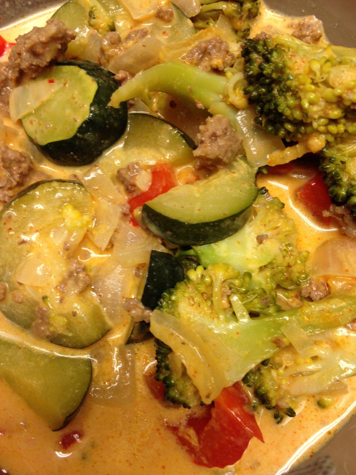 Beef and Vegetable Red Curry