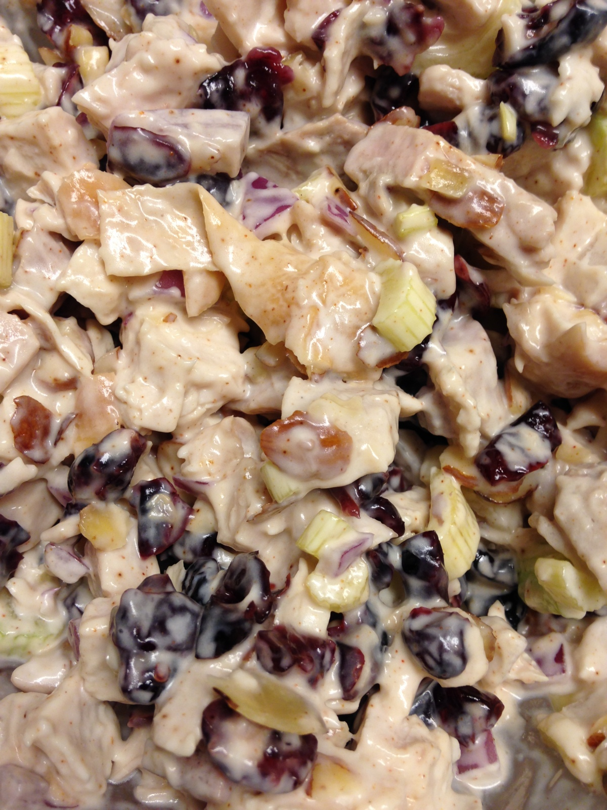 Turkey Cranberry Salad (or Chicken)