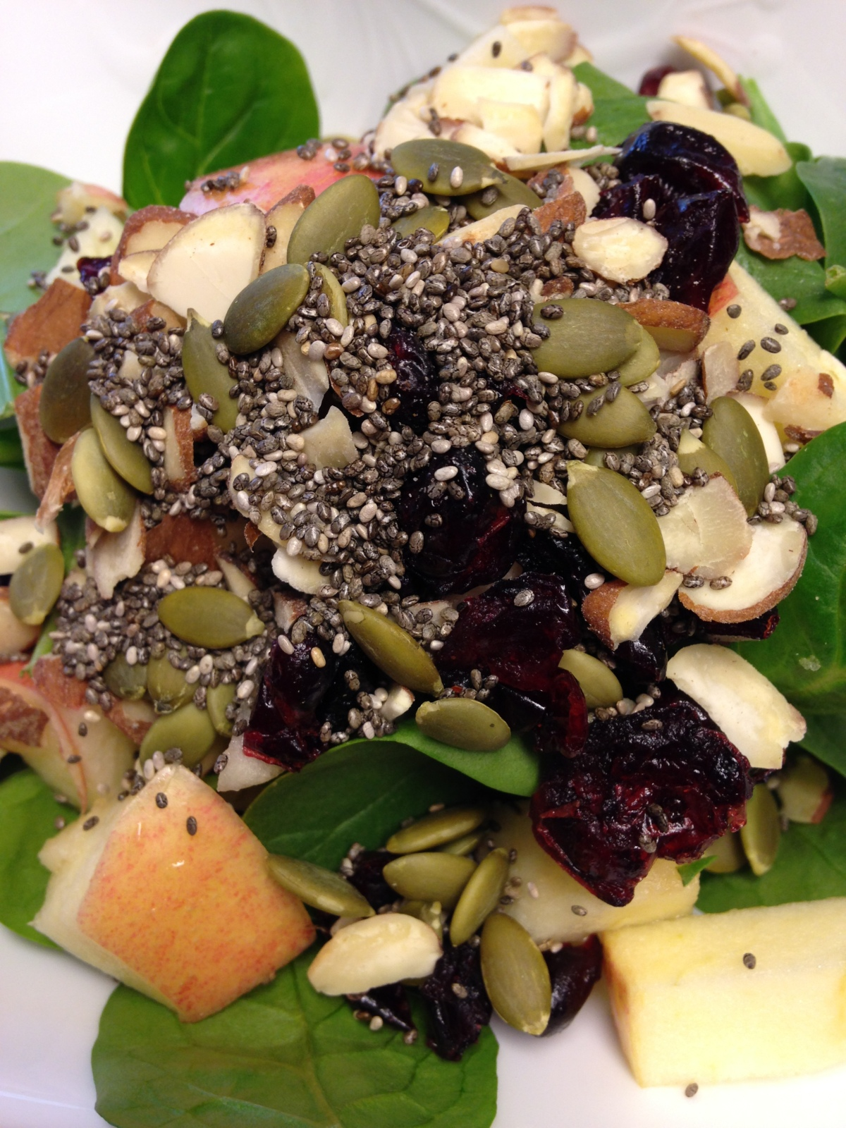 Healthy Fruit and Nut and Seed Salad