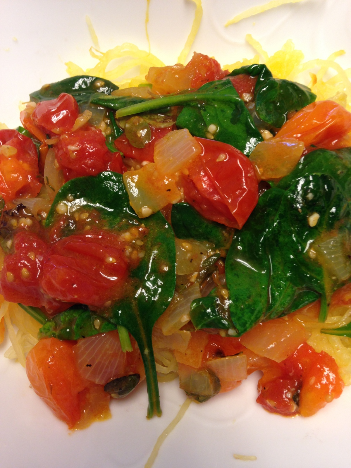 Spaghetti Squash and Tomatoes