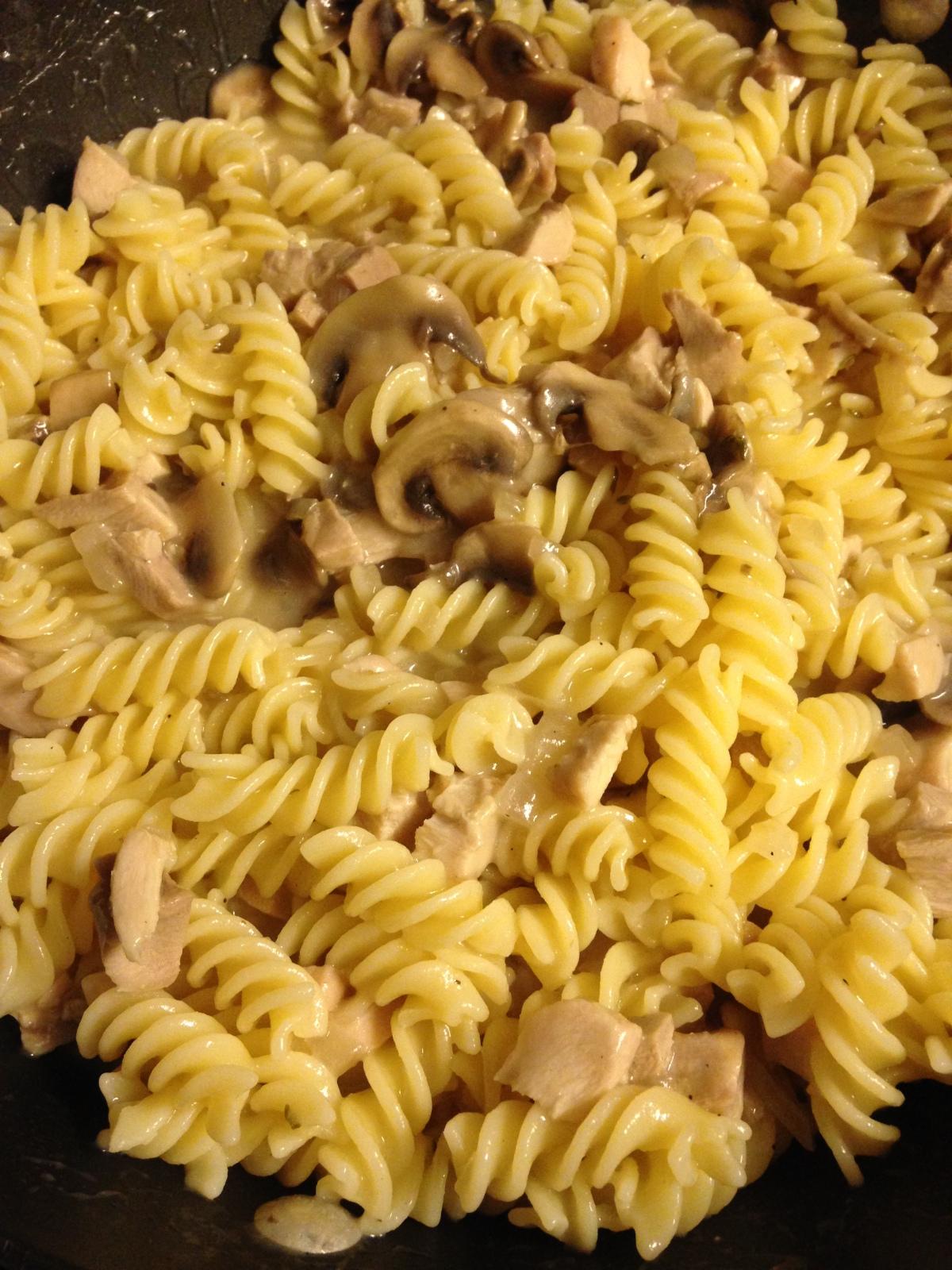 Creamy Chicken MushroomSpaghetti